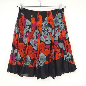 The Limited Floral Lined Cotton A-Line Skirt (Q15)